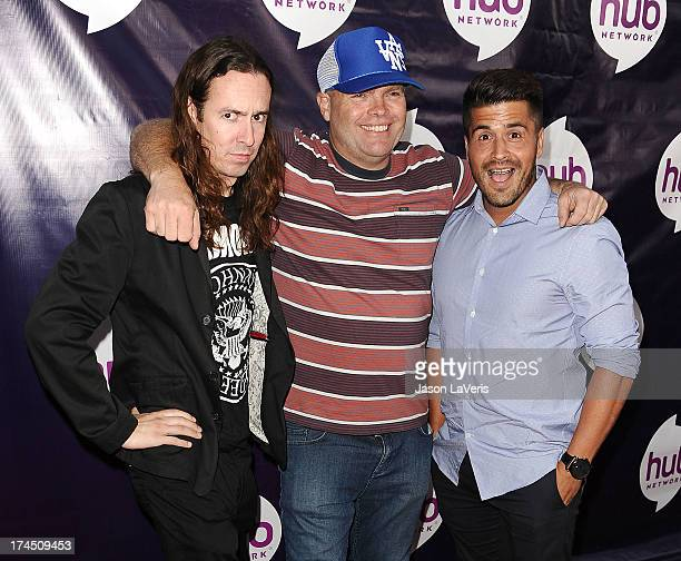 "Ian Fowles, Chad Larson and Richard ""Ricky"" Falomir of The Aquabats attend the Hub Network's 2013 Television Critics Association summer press tour..."