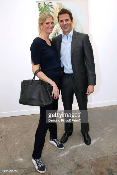 Ian Gallienne and his wife Segolene Frere Gallienne attend the FIAC 2017 International Contemporary Art Fair Press Preview at Le Grand Palais on...