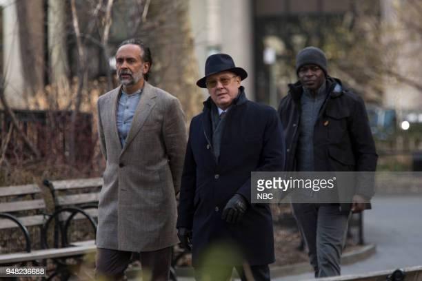 THE BLACKLIST 'Ian Garvey Conclusion' Episode 519 Pictured Bernard White as Zarak Mosadek James Spader as Raymond 'Red' Reddington Hisham Tawfiq as...