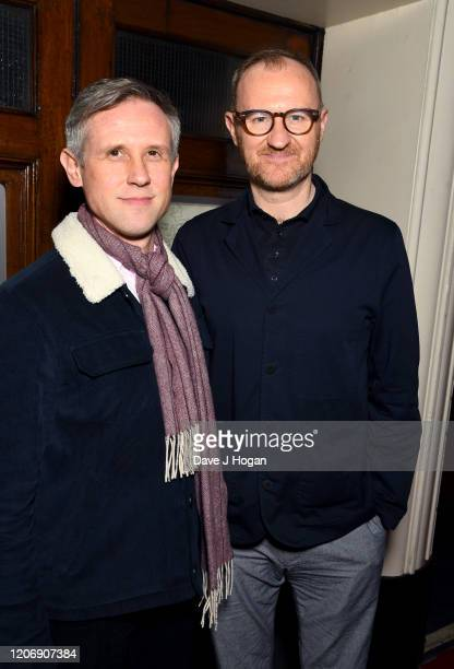 Ian Gatiss and Mark Gatiss attend the Upstart Crow press night at the Gielgud Theatre on February 17, 2020 in London, England.