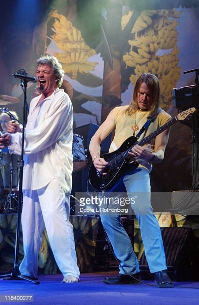 Ian Gillan and Steve Morse of Deep Purple during Deep Purple in Concert March 1 2004 at Beacon Theater in New York City New York United States