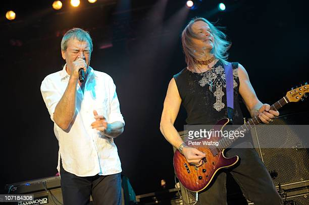 Ian Gillan and Steve Morse of Deep Purple perform on stage at the Grugahalle on November 28, 2010 in Essen, Germany.