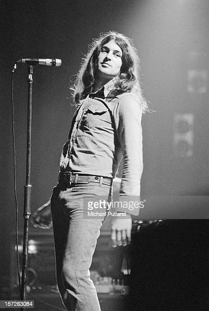 Ian Gillan from English rock band Deep Purple performs at the Rainbow Theatre in London 1st July 1972