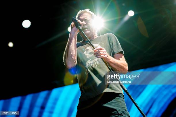 Ian Gillan member of the band Deep Purple performs live on stage at Allianz Parque on December 13 2017 in Sao Paulo Brazil