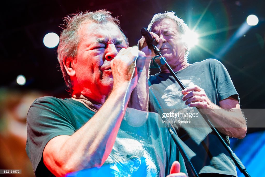 Ian Gillan member of the band Deep Purple performs live on stage at Allianz Parque on December 13, 2017 in Sao Paulo, Brazil.