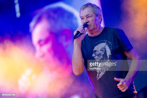 Ian Gillan of Deep Purple during his performance at Rock Fest Barcelona 2017 Festival in Santa Coloma Spain on July 01 2017
