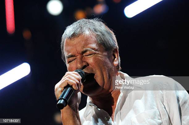 Ian Gillan of Deep Purple performs on stage at the Grugahalle on November 28 2010 in Essen Germany