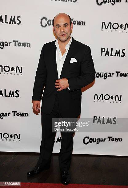 Ian Gomez arrives at ABC's Cougar Town viewing party at Moon Nightclub at Palms Casino Resort on January 21 2012 in Las Vegas Nevada