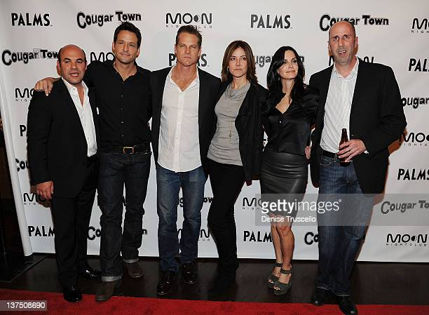Ian Gomez Josh Hopkins Brian Van Holt Christa Miller Courteney Cox and Bob Clendenin arrive at ABC's Cougar Town viewing party at Moon Nightclub at...