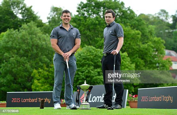 Ian Graham , and Craig Taylor , of Crow Wood Golf Club winners of the Lombard Trophy - Scottish Qualifier at Crieff Golf Club on June 16, 2015 in...