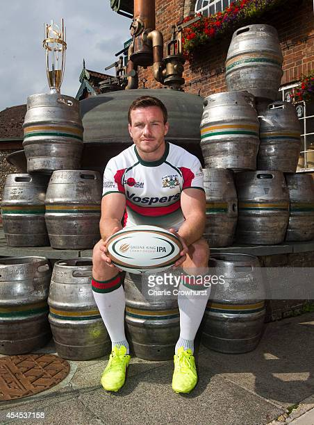 Ian Grieve of Plymouth Albion poses for a photo during the 2014/15 Greene King IPA Championship Captains photocall at Greene King IPA brewery on...