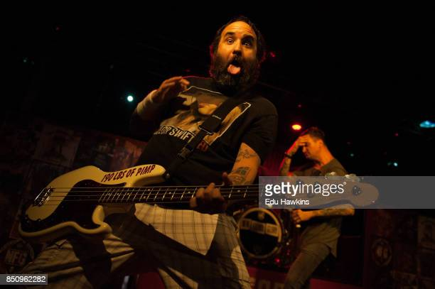Ian Grushka of New Found Glory performs at O2 Academy Oxford on September 21 2017 in Oxford England