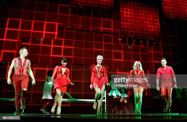 Ian 'H' Watkins Lisa ScottLee Claire Richards Faye Tozer and Lee LatchfordEvans of Steps perform live on stage at Manchester Arena on December 3 2017...