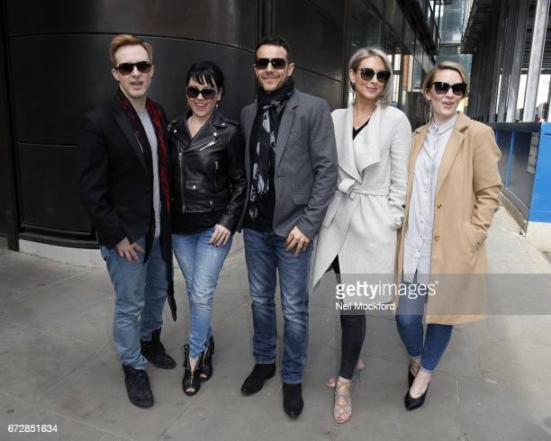 Ian 'H' Watkins Lisa ScottLee Lee LatchfordEvans Claire Richards and Faye Tozer from Steps seen at BUILD LDN at AOL on April 25 2017 in London England