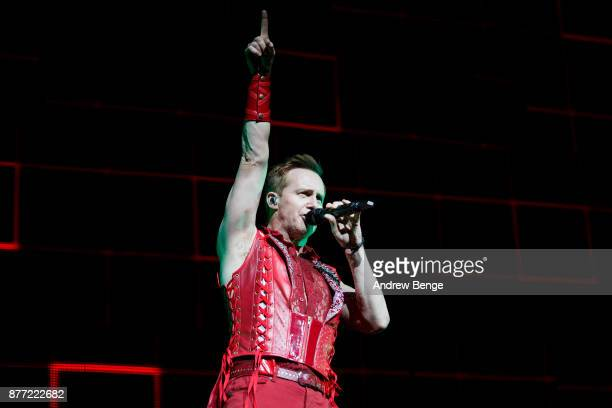 ONLY Ian 'H' Watkins of Steps performs at First Direct Arena Leeds on November 21 2017 in Leeds England