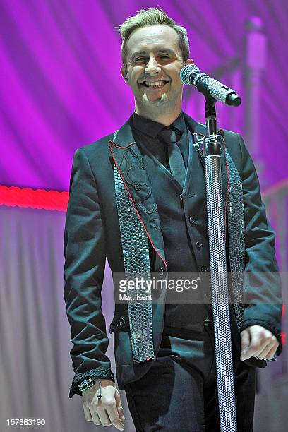 Ian 'H' Watkins of Steps performs at London Palladium on December 2 2012 in London England