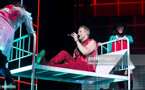 Ian 'H' Watkins of Steps performs on stage at Motorpoint Arena on December 10 2017 in Cardiff Wales