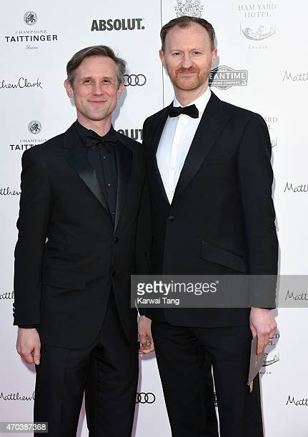 Ian Hallard and Mark Gatiss attend A Gala Celebration in honour of Kevin Spacey at The Old Vic Theatre on April 19 2015 in London England