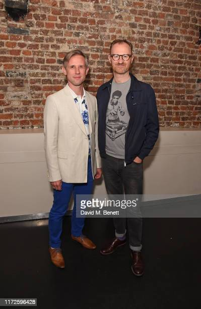 "Ian Hallard and Mark Gatiss attend the press night after party for ""A Very Expensive Poison"" at Baltic on September 05, 2019 in London, England."