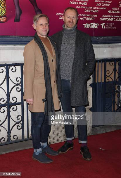 "Ian Hallard and Mark Gatiss attends the ""Death Drop"" press night at Garrick Theatre on December 10, 2020 in London, England."
