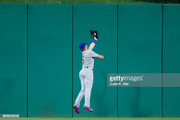 Ian Happ of the Chicago Cubs makes a catch in center field in the sixth inning against the Pittsburgh Pirates at PNC Park on May 29 2018 in...