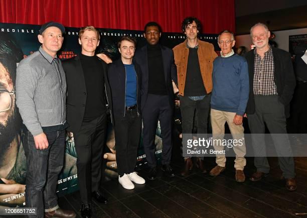 "Ian Hart, Daniel Webber, Daniel Radcliffe, Francis Annan, Mark Leonard Winter, Tim Jenkin and Stephen Lee attend the gala screening of ""Escape From..."