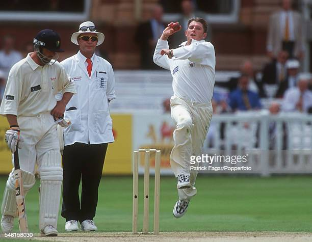 Ian Harvey bowling for Gloucestershire during the Benson and Hedges Cup Final between Glamorgan and Gloucestershire at Lord's Cricket Ground, London,...