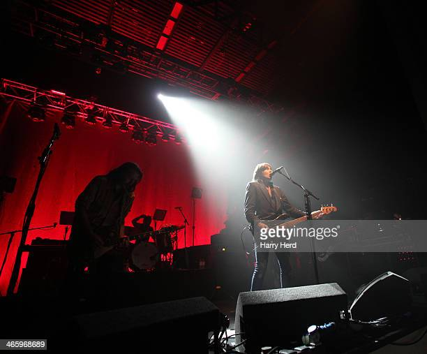 Ian Harvie and Justin Currie of Del Amitri perform at 02 Academy on January 30 2014 in Bournemouth England