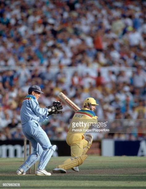 Ian Healy batting for Australia during the ICC World Cup match between Australia and England at the Sydney Cricket Ground 5th March 1992 The England...