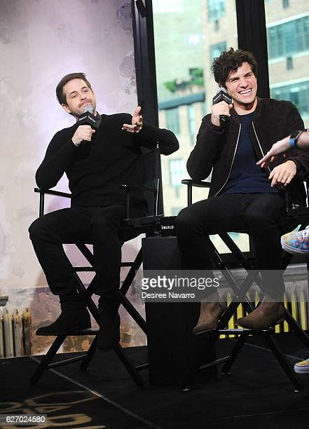 Ian Hecox and Anthony Padilla attend Build Presents 'Ghostmates' at AOL HQ on December 1 2016 in New York City