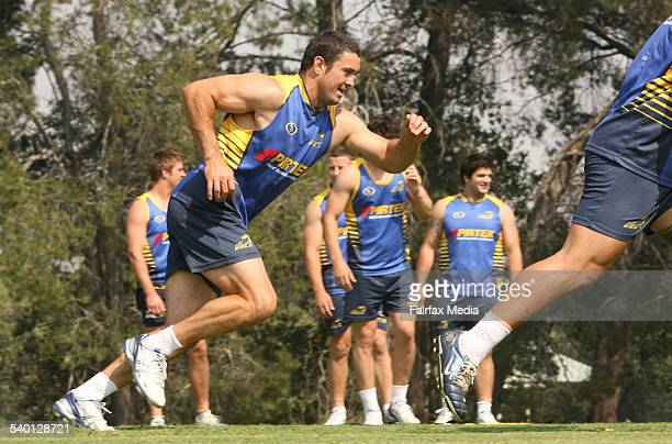 Ian Hindmarsh training at with the Parramatta Eels Ian seems to have the same fitness levels of his younger brother Nathan Hindmarsh 1 December 2006...