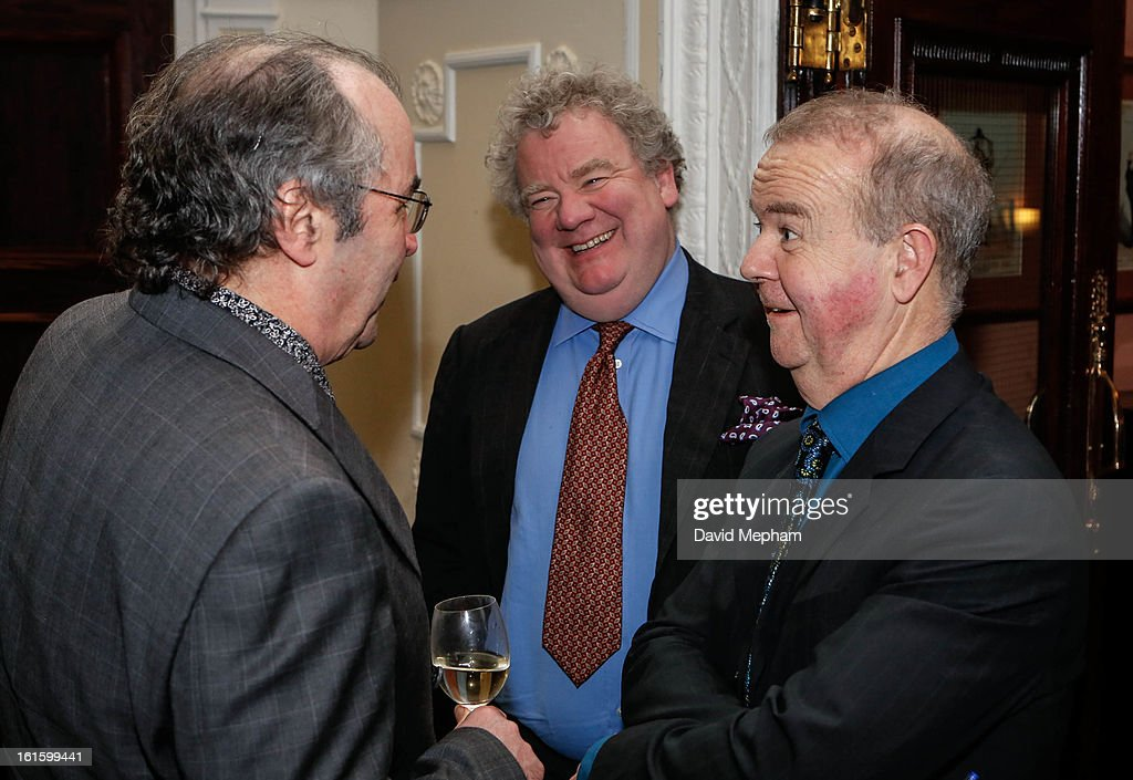 Ian Hislop and Danny Baker (L) attends the Oldie of the Year Awards at Simpsons in the Strand on February 12, 2013 in London, England.