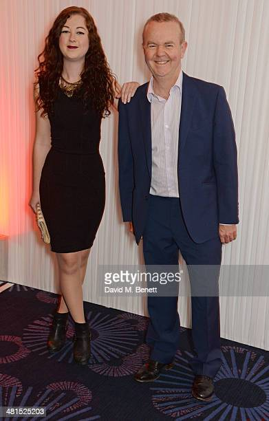 Ian Hislop and daughter Emily arrive at the Jameson Empire Awards 2014 at The Grosvenor House Hotel on March 30 2014 in London England