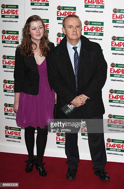 Ian Hislop and daughter Emily arrive for the Jameson Empire Awards 2009 at the Grosvenor House Hotel on March 29 2009 in London England