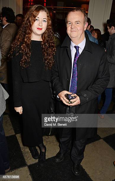Ian Hislop and daughter Emily attend an after party following the press night performance of Neville's Island at Villandry on October 21 2014 in...