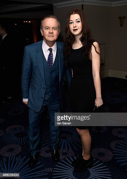 Ian Hislop and Emily Helen Hislop during the Jameson Empire Awards 2015 at the Grosvenor House Hotel on March 29 2015 in London England