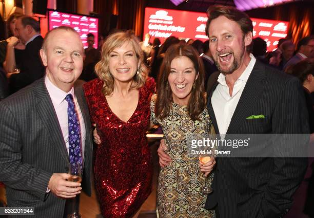 Ian Hislop Penny Smith Victoria Hislop and Vince Leigh attend the Costa Book Of The Year Award 2016 at Quaglino's on January 31 2017 in London United...