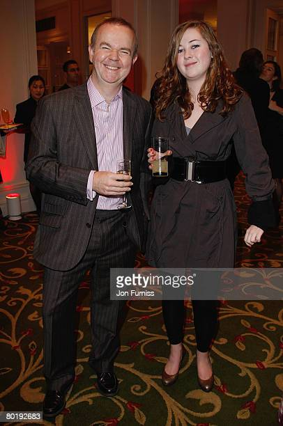 Ian Hislop with daughter Emily attend the Sony Ericsson Empire Awards 2008 Drinks Reception held at the Grosvenor House Hotel on March 9 2008 in...