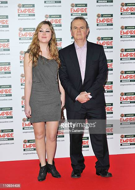 Ian Hislop with his daughter Emily attends the Jameson Empire Awards at the Grosvenor House Hotel on March 27 2011 in London England