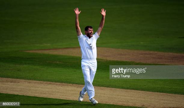 Ian Holland of Hampshire appeals during Day Two of the Specsavers County Championship Division One match between Hampshire and Essex at the Ageas...