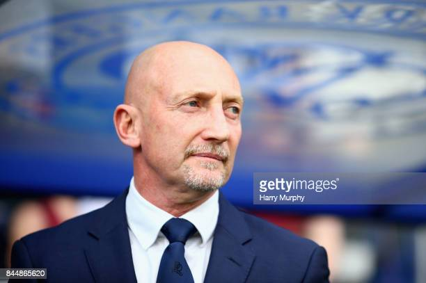 Ian Holloway Head Coach of Queens Park Rangers looks on prior to the Sky Bet Championship match between Queens Park Rangers and Ipswich Town at...