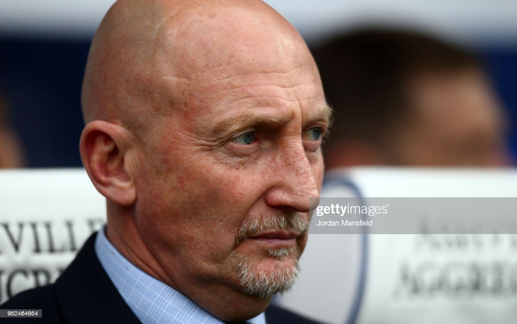 Ian Holloway ,manager of Birmingham looks on during the Sky Bet Championship match between Queens Park Rangers and Birmingham City at Loftus Road on April 28, 2018 in London, England.