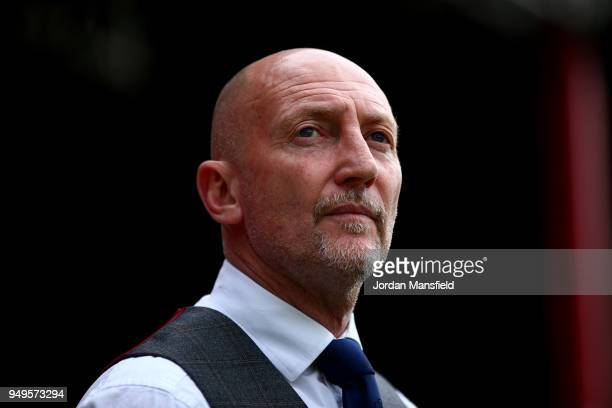 Ian Holloway, manager of QPR looks on during the Sky Bet Championship match between Brentford and Queens Park Rangers at Griffin Park on April 21,...