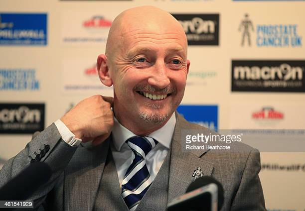 Ian Holloway talks to the media during a press conference to announce him as the new Millwall manager at The Den on January 9 2014 in London England