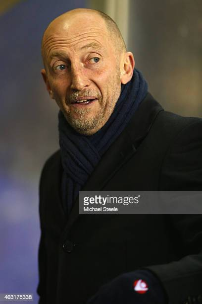 Ian Holloway the manager of Millwall during the Sky Bet Championship match between Birmingham City and Millwall at St Andrews on February 10 2015 in...