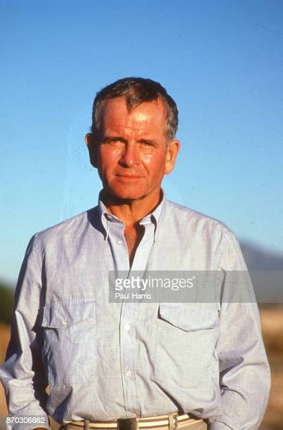 Ian Holm played Bernard Samson in the Game Set and Match trilogy seen here on the Mexico Set November 19 1986 in Tenochtitlan Mexico