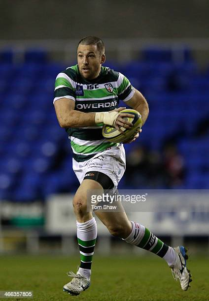Ian Humphreys of London Irish in action during the LV= Cup Match between London Irish and Scarlets at the Madejski Stadium on February 1 2014 in...