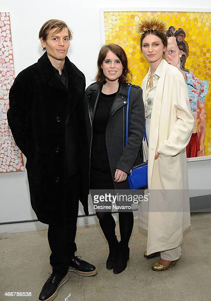 Ian Jones Princess Eugenie of York and Tali Lennox attend Tali Lennox Exhibition Opening Reception at Catherine Ahnell Gallery on March 18 2015 in...
