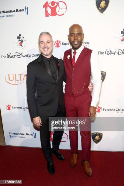 Ian Jordan and Karamo Brown attend Save The Children's Centennial Celebration: Once in a Lifetime at The Beverly Hilton Hotel on October 02, 2019 in...