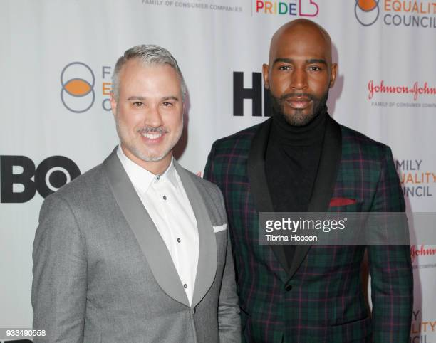 Ian Jordan and Karamo Brown attend the Family Equality Council's annual Impact Awards at The Globe Theatre on March 17 2018 in Universal City...